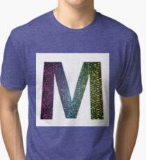 letter M of different colors Tri-blend T-Shirt