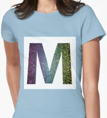 letter M of different colors Womens Fitted T-Shirt