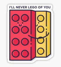 Never Lego Sticker