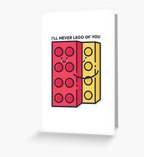 Never Lego Greeting Card