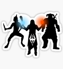 Skyrim - Thief, Mage and Warrior Sticker