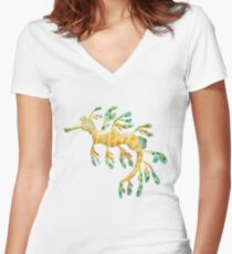 Leafy Seadragon Women's Fitted V-Neck T-Shirt