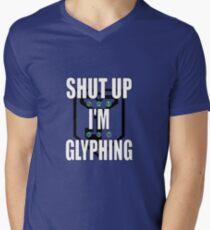 Ingress Shut Up I'm Glyphing T-shirt for Resistance Men's V-Neck T-Shirt