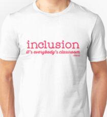 Camiseta unisex Inclusión: es la clase de todos.