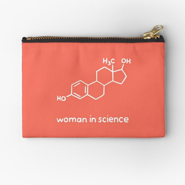 Woman in Science Chemistry Zipper Pouch