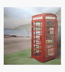 Phone Box at Diabaig Photographic Print