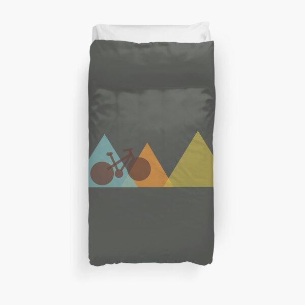 Mountain Bike Simple Geometric Design for Mountain Bike Riders Duvet Cover