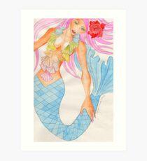 Mermaid Aquamarinna Art Print