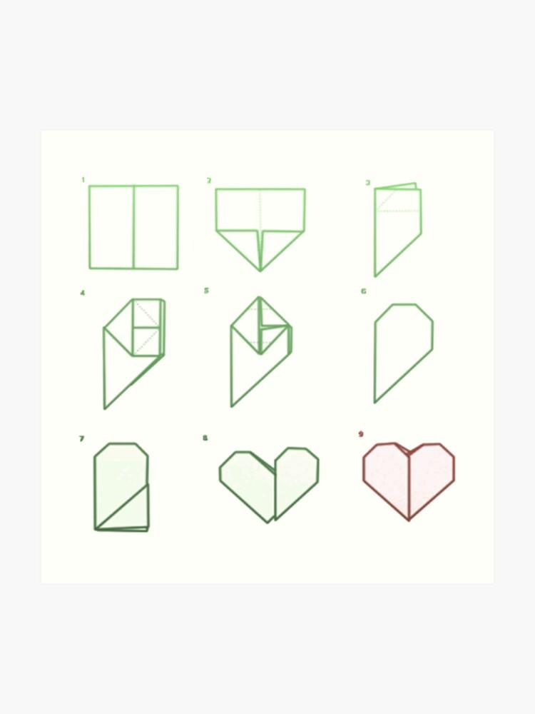 Bevorzugt Origami Herz Falten