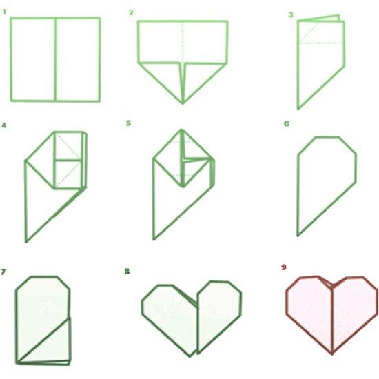 Origami Heart Folding Posters By Everydayisokayy Redbubble