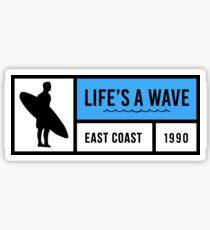 Life's A Wave Sticker