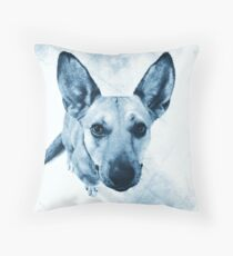 Carolina Blue Pup Throw Pillow