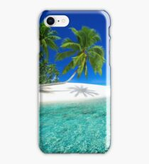 Postcard from the Anse Lazio beach - Praslin island, Seychelles iPhone Case/Skin