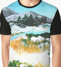 Icelandic Winter Wonderland Landscape Graphic T-Shirt