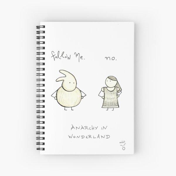 Anarchy in Wonderland Spiral Notebook