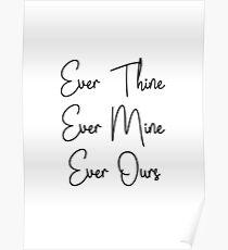 SATC, Carrie und Mr Big Zitate - immer dein, immer meins, immer unser Poster