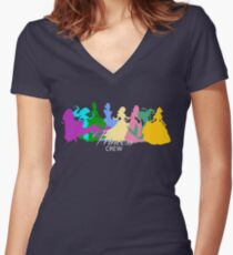 Princess crew Women's Fitted V-Neck T-Shirt
