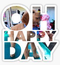 Oh Happy Day - Golden Ice Cream Sticker