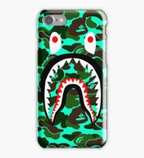 camo shark green light iPhone Case/Skin