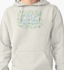 Don't Let the Bastards Grind You Down - Blue Floral Pullover Hoodie