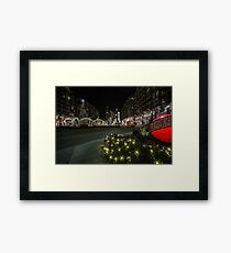 mall xmas display with willis tower in the background Framed Print