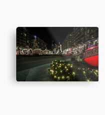 mall xmas display with willis tower in the background Metal Print