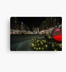 mall xmas display with willis tower in the background Canvas Print