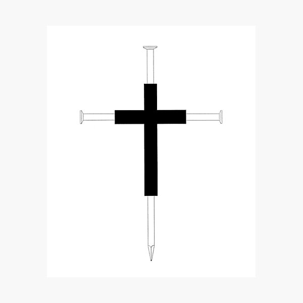 Cross of Nails Photographic Print