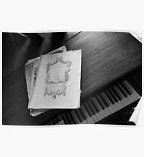 Piano and sheet music Poster
