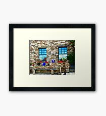 Flower Pots at Corcgreggan's Mill, Donegal, Ireland Framed Print