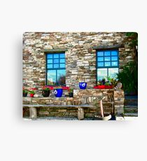 Flower Pots at Corcgreggan's Mill, Donegal, Ireland Canvas Print