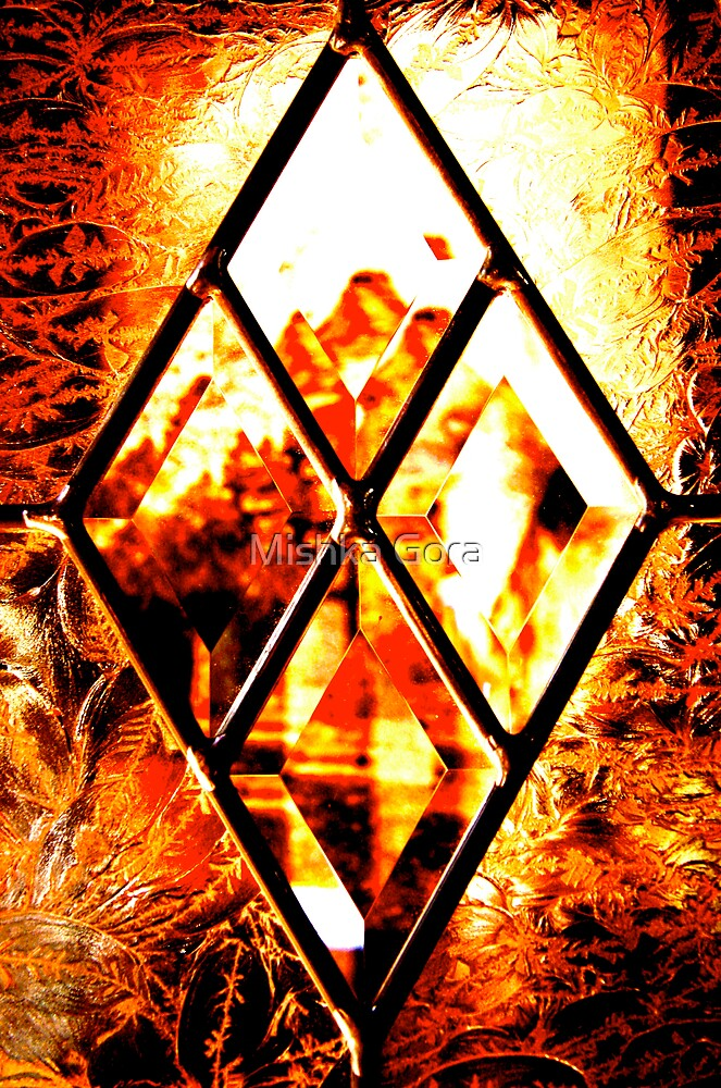 Window Pane in Amber by Mishka Gora