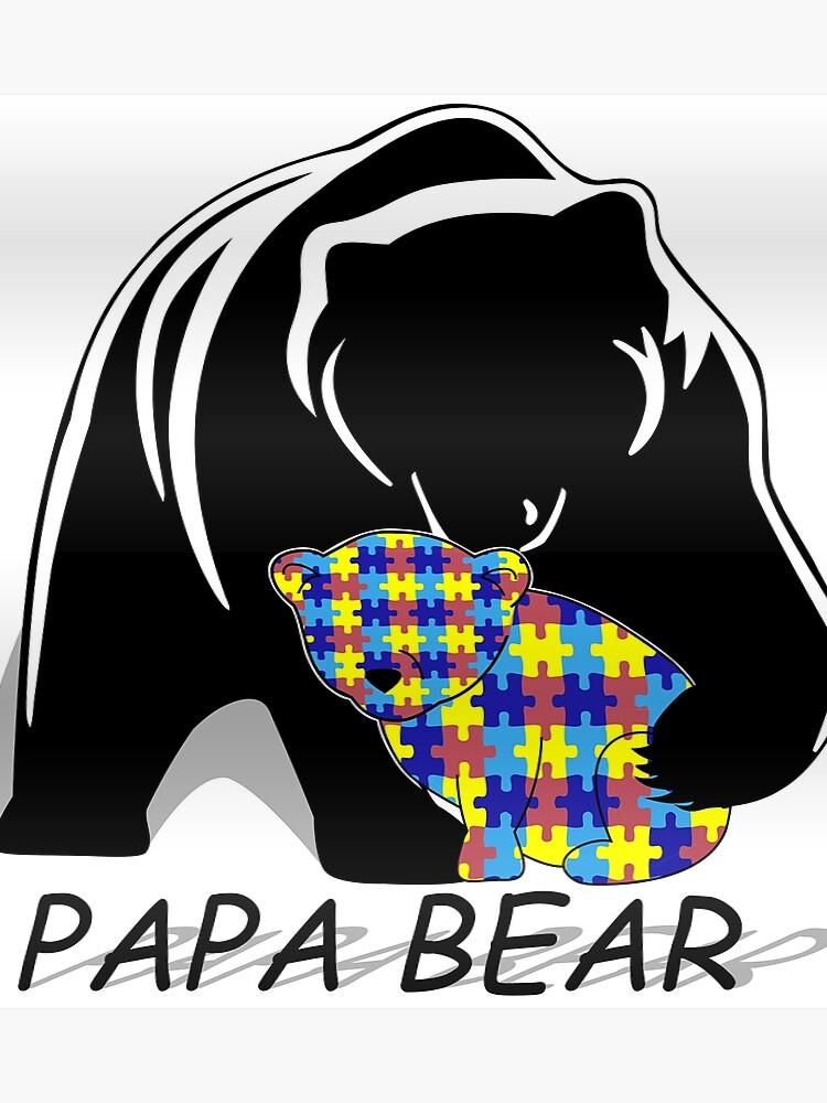 20e188d8 Autism Awairness Papa Bear