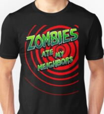 Camiseta ajustada Zombies Ate My Neighbors Pixel Art