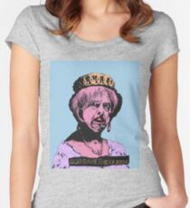 God (May) Save The Queen Women's Fitted Scoop T-Shirt