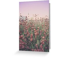 Floral Sunset Greeting Card