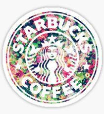Bright Floral Starbucks Sticker