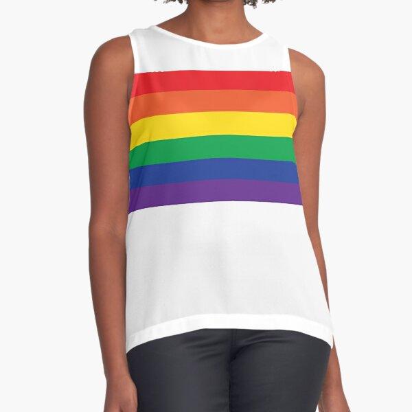 Rainbow Sleeveless Top