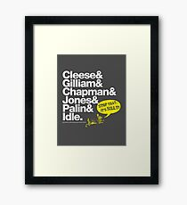 Monty Python Framed Print