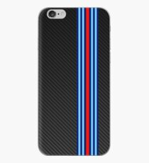 Carbon racing stripes iPhone Case