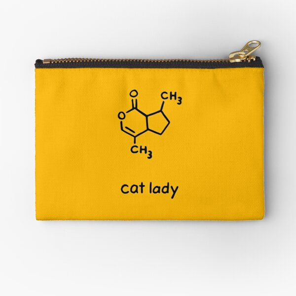 Cat Lady Chemistry Molecule Zipper Pouch