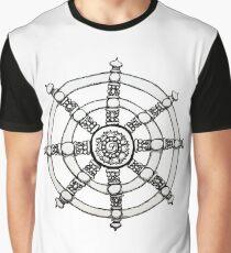 Buddhist Dharmachakra Graphic T-Shirt
