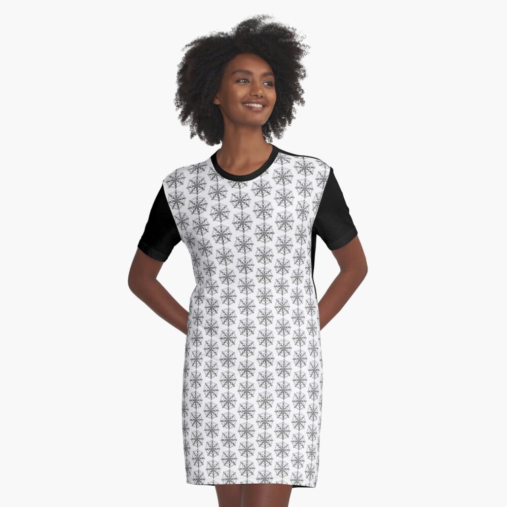 Buddhist Dharmachakra Graphic T-Shirt Dress Front