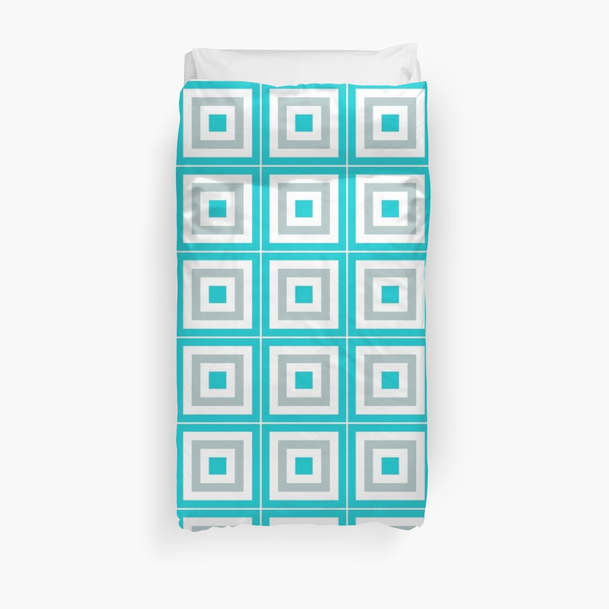 Quot Blue Gray And White Blocks Quot Duvet Covers By Kcavender