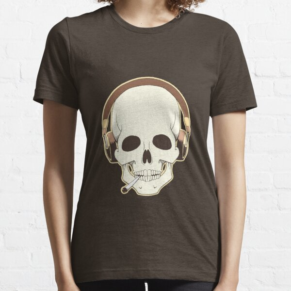 Skull with headphones Essential T-Shirt