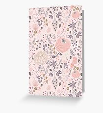 Field of Flowers in Pink and Purple Greeting Card