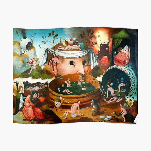 The Vision of Tondal Hieronymus Bosch Poster