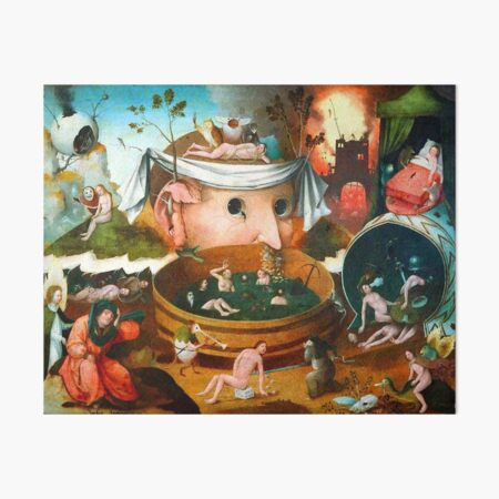 The Vision of Tondal Hieronymus Bosch Art Board Print