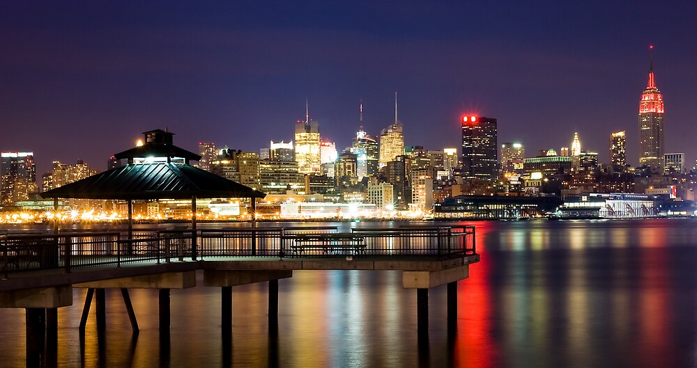 New York City Evening Skyline by Anthony Torres