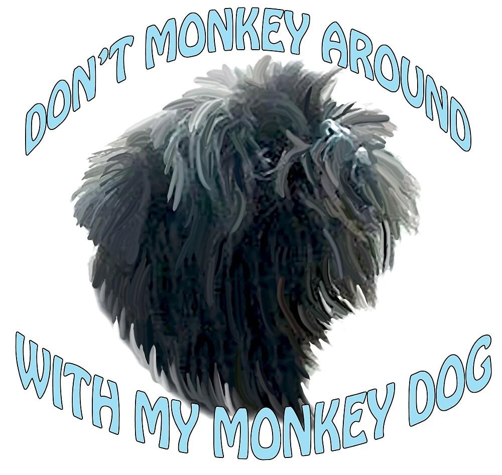 Monkey Dog Affenpinscher by IowaArtist